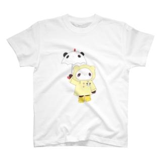 あめふりパンダ T-shirts