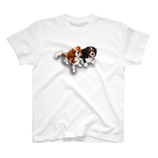 キャバリア№07 ブレンハイム&トライカラー ザク・ライデン T-shirts