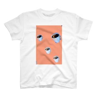 コーヒーピンク T-shirts