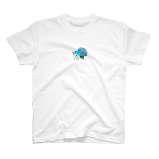 紫陽花とテラ T-shirts
