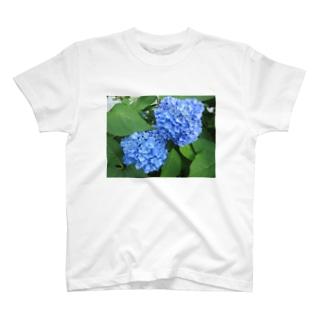 露と空と結ぶ色 T-shirts
