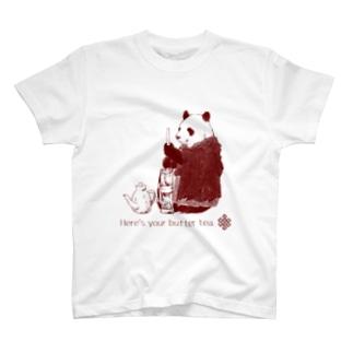 バター茶パンダ T-shirts