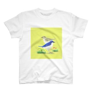 コルリのつがい T-shirts