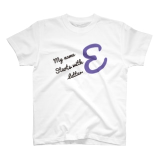 My name starts with letter E T-shirts