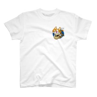 ウード猫ワンポイント T-shirts