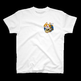 Catoneのウード猫ワンポイント T-shirts