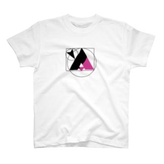 YASUのyA(黒&マゼンタ) T-shirts