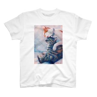 じっとしてて。 T-shirts