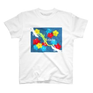 ハワイアンヤモリnavy T-shirts