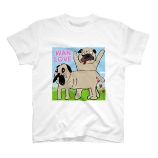 パグ Wan Love T-shirts