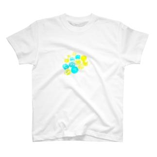 座布団のクラック T-shirts
