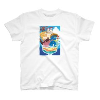 夏祭りパフェ T-shirts