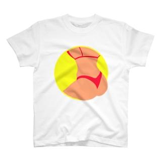 Summer Butt(ネオンイエロー) T-shirts
