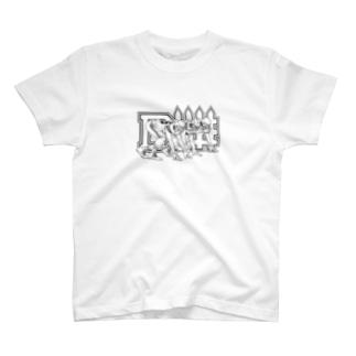 ディフェンスライン黒 T-shirts