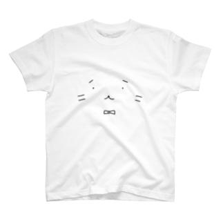 ねこの「みたら氏」の顔 T-shirts