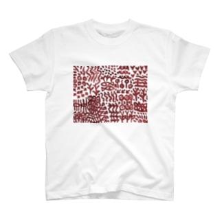 壁画に似た文様 T-shirts