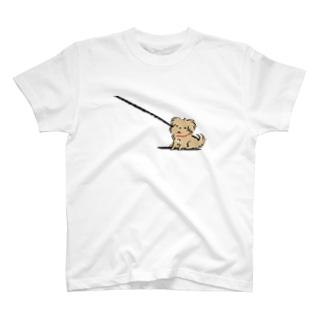 こぐま犬てんすけ拒否ポーズ T-shirts