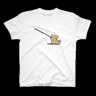 こぐま犬てんすけグッズショップのこぐま犬てんすけ拒否ポーズ T-shirts
