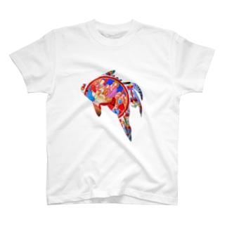 最後の晩餐金魚 T-shirts