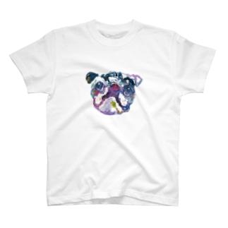 長友心平の瞳のパグ T-shirts