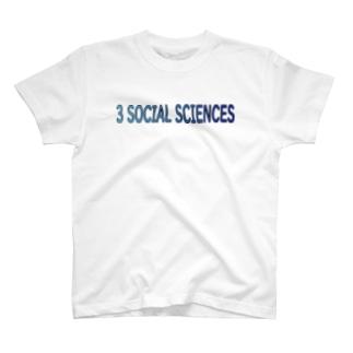 3 SOCIAL SCIENCES T-shirts