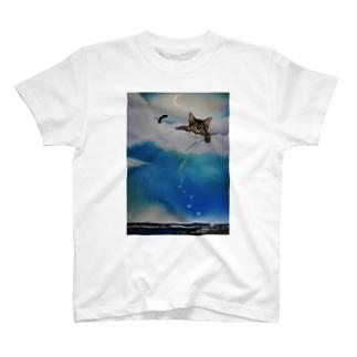 雲の上からキラキラ・・・ T-shirts