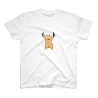 バーベルを持ち上げるハムスター T-shirts