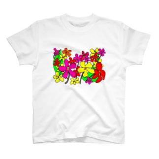 手書きのお花 T-shirts