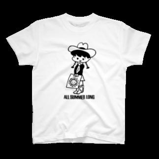 本秀康SUZURIオフィシャルショップ    のAll Summer Long(レコガール) T-shirts