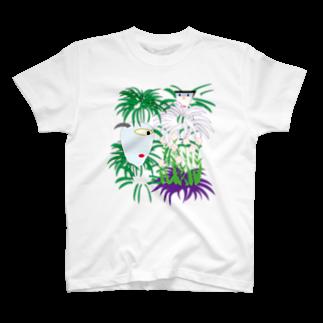 水越智美の描きかけの植物鑑賞 T-shirts