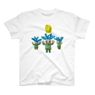 くらげ太郎とコインアップ T-shirts