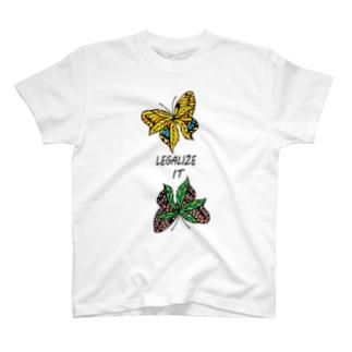 AKRstyle - butterfly × marijuana T-shirts