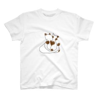 ハート猫 T-shirts