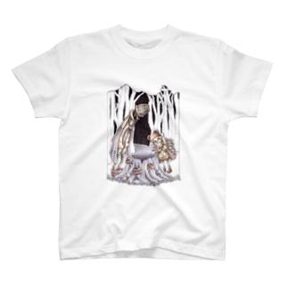 木こりと不思議な切り株 T-shirts