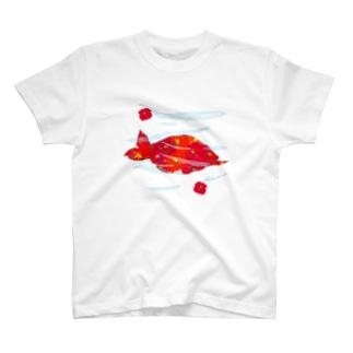 ウミガメハイビスカス🌺 T-shirts