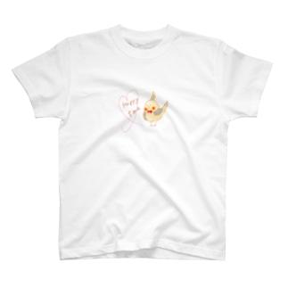 オカメ Happy time T-shirts