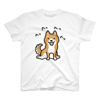 こぐま犬てんすけグッズショップの柴犬横座り T-shirts