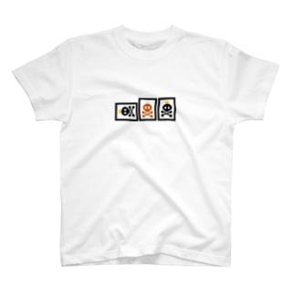 へらドクロ(赤入り) T-shirts