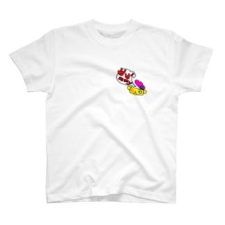闇鍋マン 鍋ブタあきあきver. T-shirts