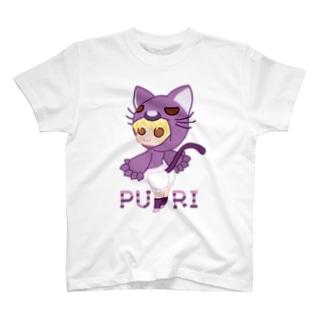 ウサネコのぷり☆ネコちゃん T-shirts