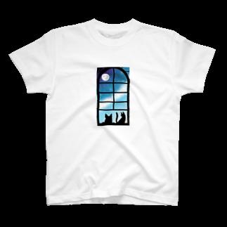 創狐堂の犬と猫 T-shirts