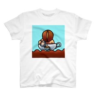 プカプカコーヒードリップ T-shirts