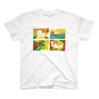 夏のさんぽ犬 T-shirts