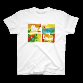 ささきえりの夏のさんぽ犬 T-shirts