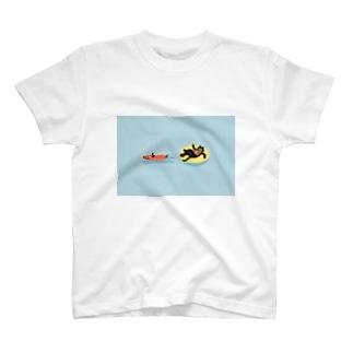ねこのバカンス T-shirts