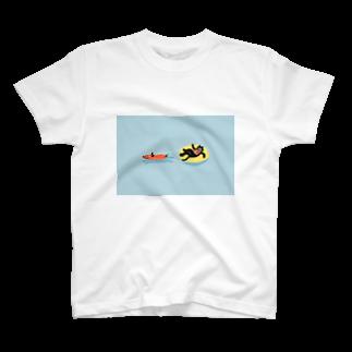 umaoのねこのバカンス T-shirts