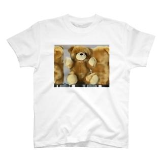 クマの子見ていた隠れんぼ T-shirts