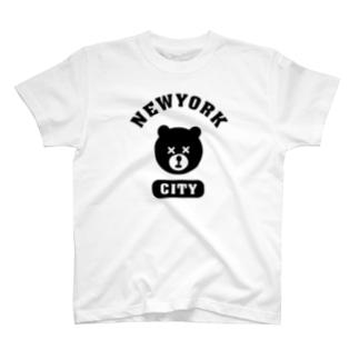 NYC BEAR ニューヨークシティベアー 熊 カレッジロゴ T-shirts