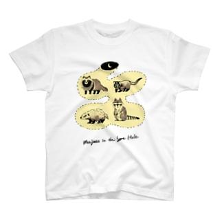 ムジナズ インザセイムホール T-shirts