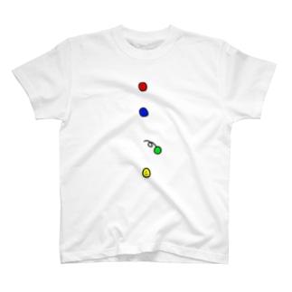 ボタン T-shirts